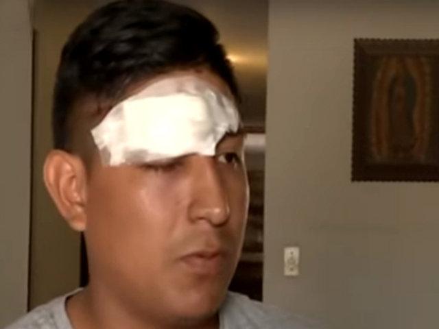 San Borja: joven resultó con 40 puntos en el rostro tras ser agredido por extranjero