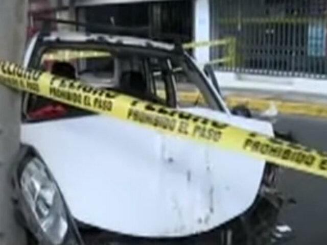Av. Alejandro Tirado fue cerrada tras persecución que acabó con delincuente abatido