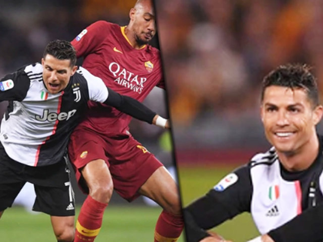 La Juventus con Cristiano Ronaldo perdió 2-0 ante la Roma