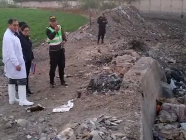 Hallan cadáver de niño abandonado en torrentera de Arequipa
