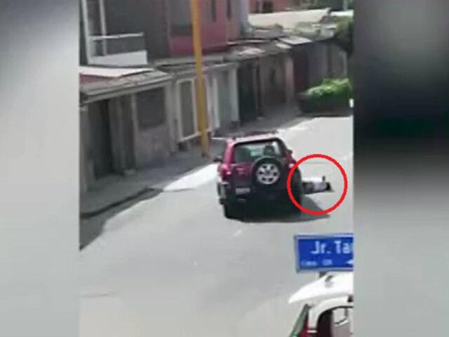 San Miguel: hombre atropella a mujer mototaxista con su camioneta