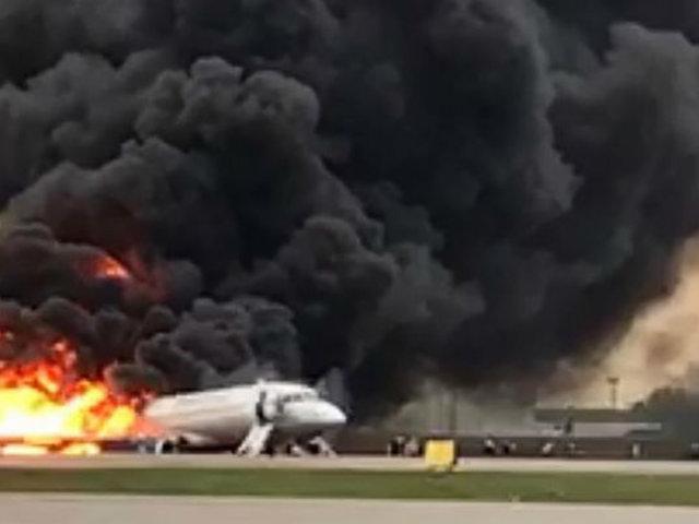 Rusia: revelan nuevo video del accidente aéreo que dejó 41 muertos