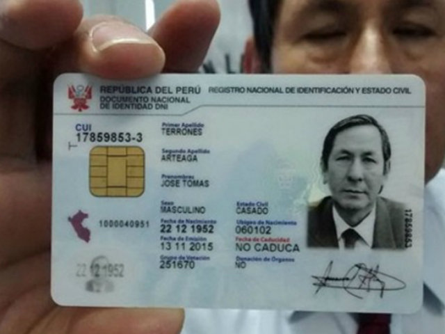 RENIEC suspende entrega del DNI electrónico