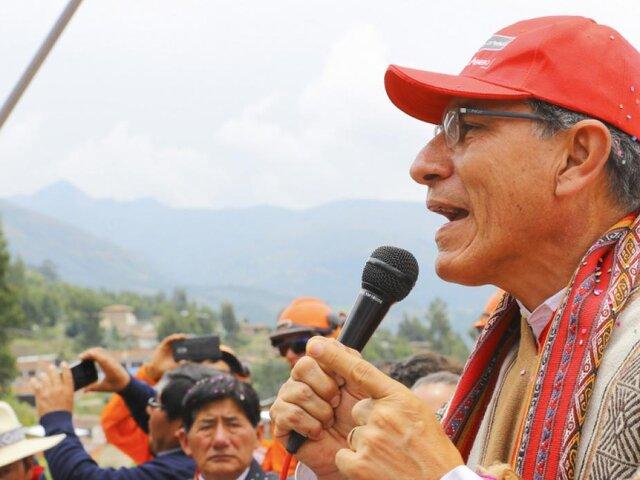 Martín Vizcarra: Si quieren sacar una ley para que no postule a la reelección, que lo hagan