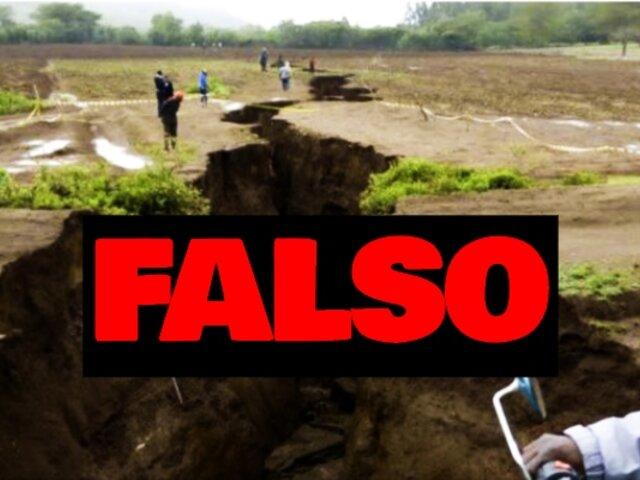 Atención: grieta viralizada en redes no es de sismo en Loreto