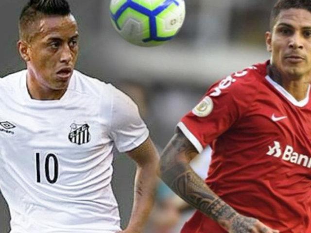 Choque de peruanos: Internacional empató con Santos por la fecha 6 del Brasileirao