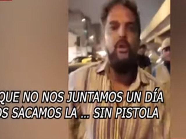 Motociclistas acusan al empresario Luis Miguel Llanos por amenazas con arma