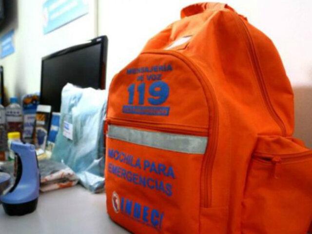 En caso de sismo: ¿Qué debe contener la mochila de emergencia?