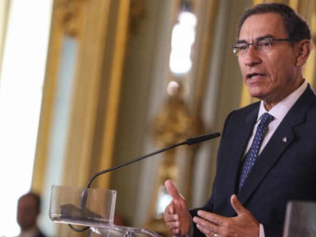 Fiestas Patrias: Presidente Vizcarra dará mensaje a la Nación a las 11 AM