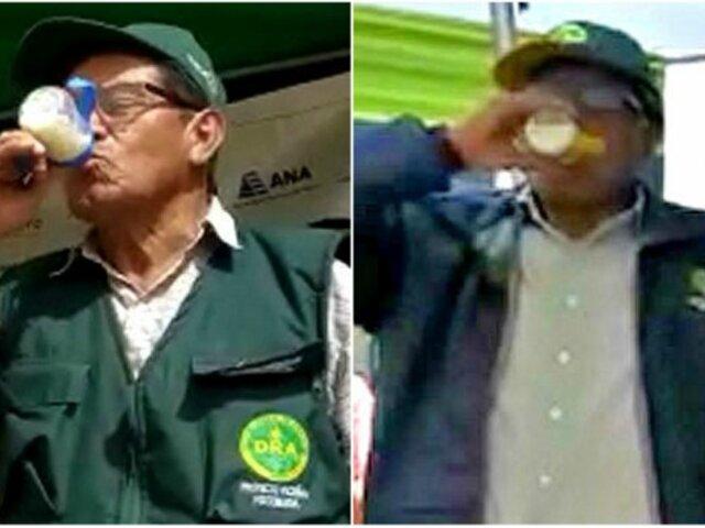 Huancayo: funcionarios participan de concurso de tomar leche en biberón