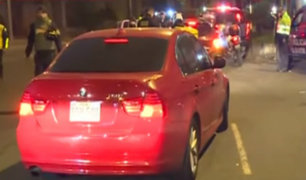 Miraflores: intervienen vehículos de alta gama ante ola de asaltos