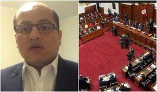 Víctor Hugo Quijada: Debe llegarse a un acuerdo para evitar cierre del Congreso