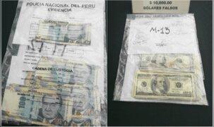 Capturan a mujer con 200 mil soles y 10 mil dólares falsos en Ancón