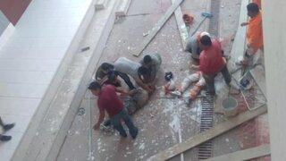 Moquegua: pintores caen de andamio a 10 metros de altura y sobreviven de milagro
