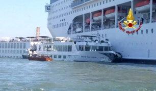 Italia: al menos cuatro heridos deja choque de barcos en Venecia