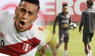 Christian Cueva se sumó a los entrenamientos en La Videna