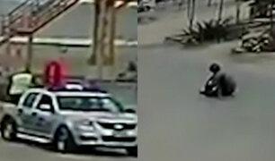 Hombre que sufría convulsiones fue abandonado en plena calle por serenos de San Bartolo