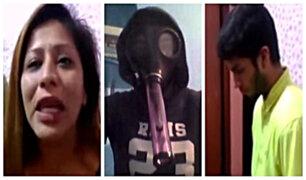 Pareja ofrecía máscara antigás para el consumo de drogas