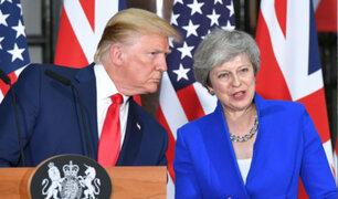 """Trump anuncia """"poderoso"""" tratado comercial con Reino Unido"""