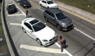 VIDEO: policía es brutalmente atropellado en plena carretera