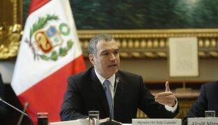Premier Del Solar se pronuncia tras aprobación de cuestión de confianza