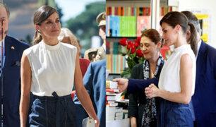 Reina Letizia inauguró Feria del Libro en Madrid
