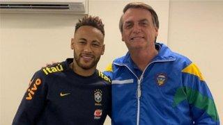 Presidente Jair Bolsonaro visitó a Neymar en el hospital