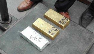 Incautan oro valorizado en un millón de soles en el aeropuerto Jorge Chávez