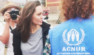 Angelina Jolie viaja a la frontera entre Colombia y Venezuela