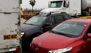 Chorrillos: imágenes exclusivas de intento de asalto a camión cargado de equipos electrónicos