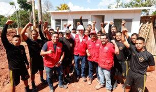 Tarapoto: Gobierno entregó más de 100 viviendas de emergencia a damnificados por sismo