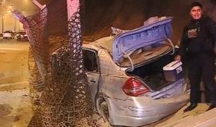 Miraflores: tres heridos deja aparatoso accidente en la Costa Verde
