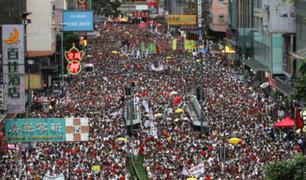 Hong Kong: realizan masiva manifestación contra la ley de extradición