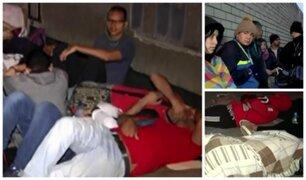 Surquillo: venezolanos duermen en la calle para tramitar antecedentes policiales