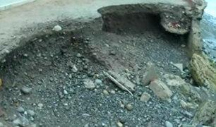 Miraflores: vereda erosiona por oleaje anómalo en la Costa Verde
