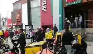 Miraflores: realizan operativo para intervenir motos delivery