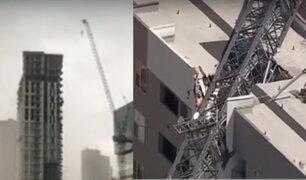 EE.UU: grúa cae por fuertes vientos y deja un muerto y seis heridos