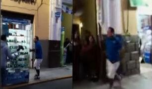 Trujillo: comerciante dispara contra policías que intentaron decomisar su vitrina