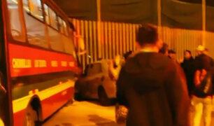 Chorrillos: triple choque deja un muerto y ocho heridos