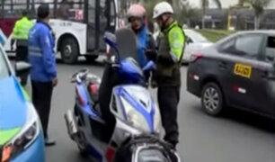 Miraflores: realizan operativo a repartidores de delivery