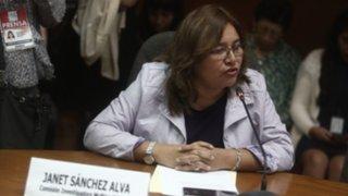 Janet Sánchez pondrá su cargo a disposición si aprueban medida cautelar de Salaverry