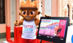 Juegos Panamericanos: presentan estampilla alusiva a Lima 2019