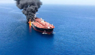 Buques petroleros se incendiaron frente a costa iraní en presunto ataque