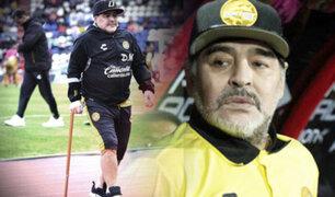 Maradona no seguirá como DT de Dorados de Sinaloa por razones de salud