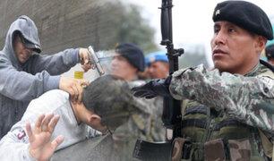 Proponen ley para que militares combatan inseguridad ciudadana
