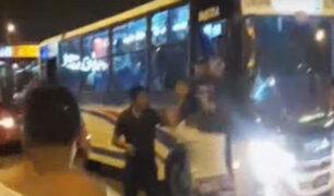 El Agustino: gresca de transportistas por pasajeros deja un policía herido