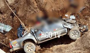 La Libertad: despiste de camioneta a abismo deja 7 muertos y 3 heridos