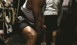 Por su mes, papás se ejercitan en gimnasios de Lima