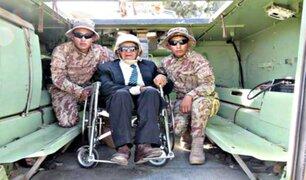 Moquegua: exsoldado regresó al Ejército Peruano a sus 107 años