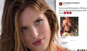 Bella Thorne publica fotos íntimas para evitar chantaje de hacker